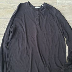 Vince 100% cotton black long sleeve t-shirt with b